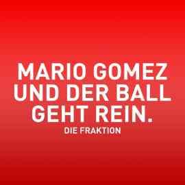 Mario Gomez und der Ball geht rein