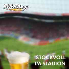 Stockvoll im Stadion