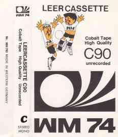 Audio-Leercassette zur WM 74